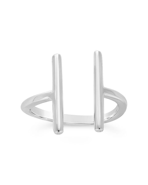 Sterling Silver Parallel Bar Ring only 1 available US size 9