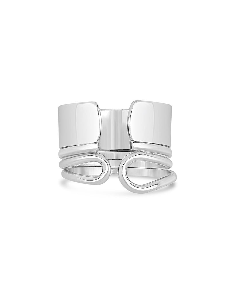 Sterling Silver Chunky Open Band Ring - Sterling Forever