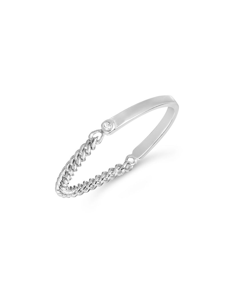 Sterling Silver Dainty Chain Ring Ring Sterling Forever Silver 6