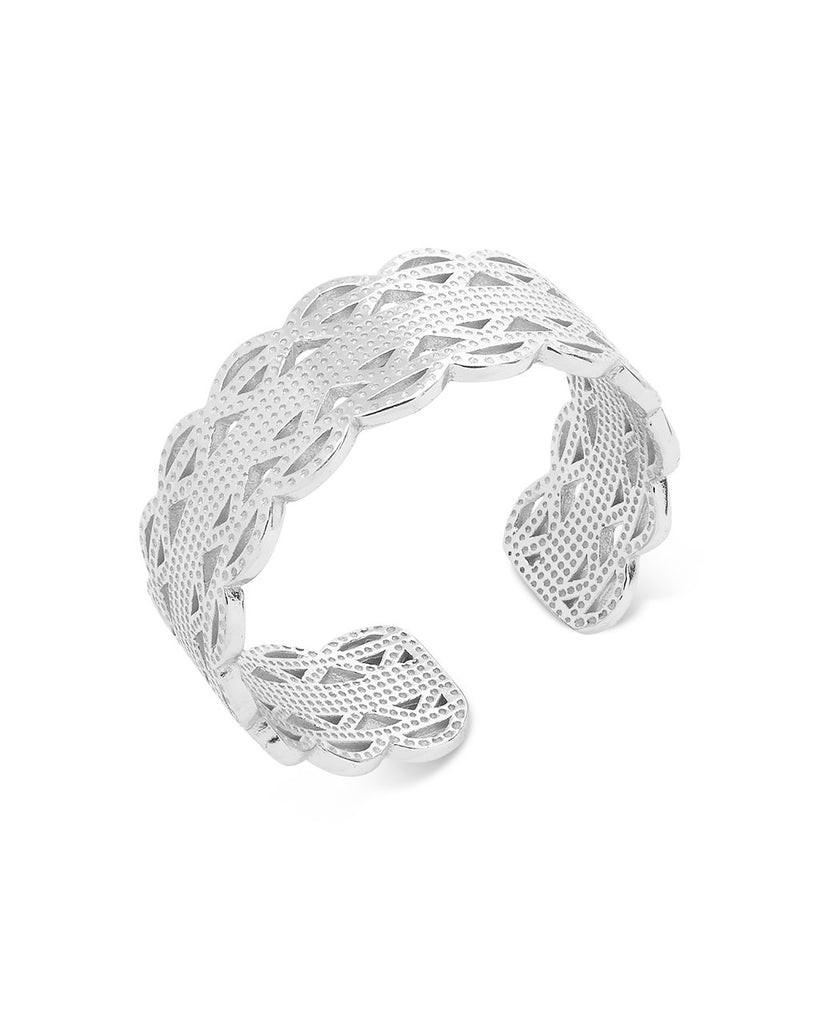 Sterling Silver Intertwined Band Ring Ring Sterling Forever