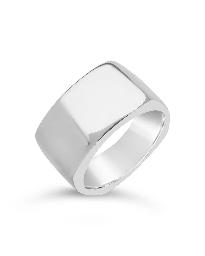 Sterling Silver Square Signet Ring Ring Sterling Forever Silver 6