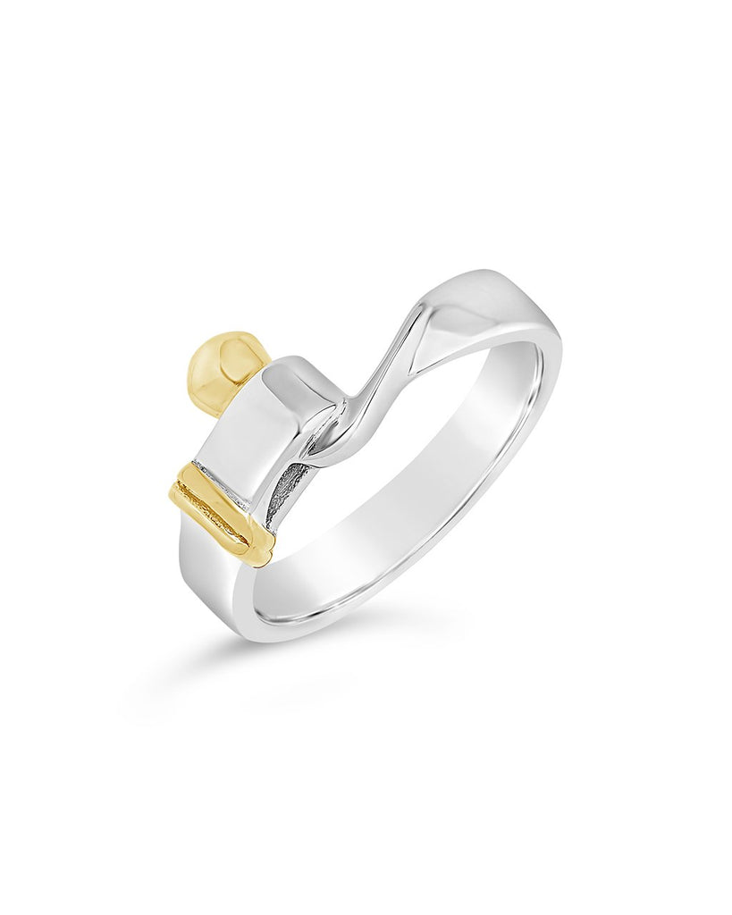 Sterling Silver Hook & Eye Ring - Sterling Forever