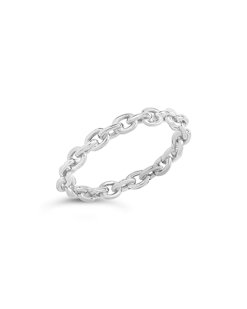 Sterling Silver Continuous Chain Link Ring - Sterling Forever