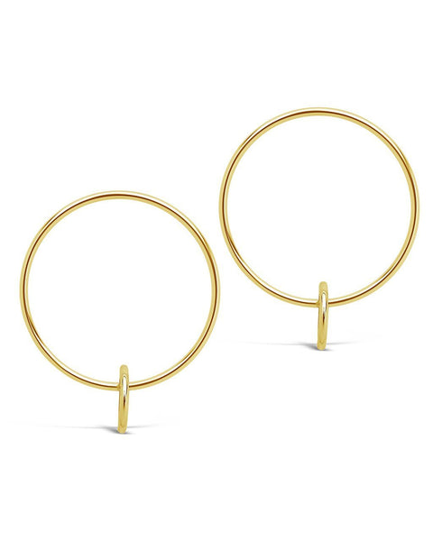 Double Loop Stud Hoop Earrings