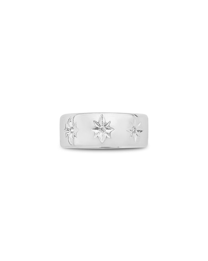 Starburst Band Ring - Sterling Forever