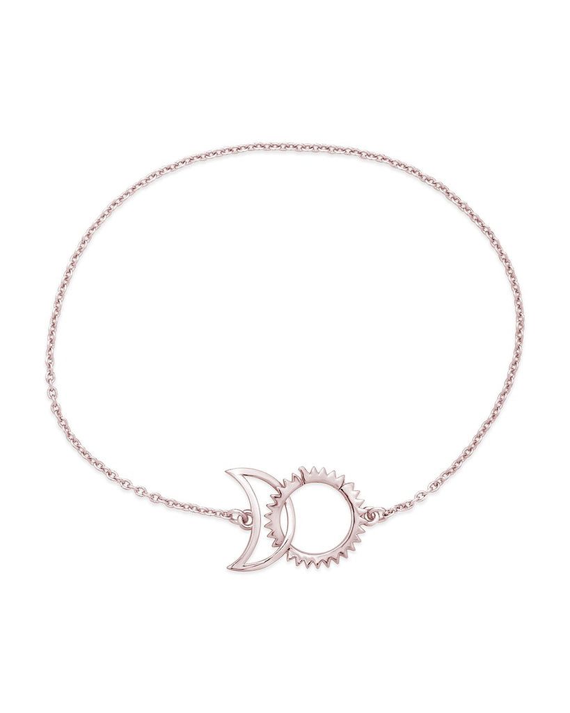 Interlocking Sun and Moon Bracelet - Sterling Forever
