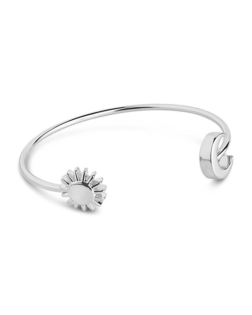 Sun and Moon Cuff Bracelet - Sterling Forever