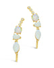CZ & Created Opal Accented Ear Crawlers - Sterling Forever
