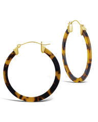 50mm Resin Hoop Earrings Earring Sterling Forever Tortoise
