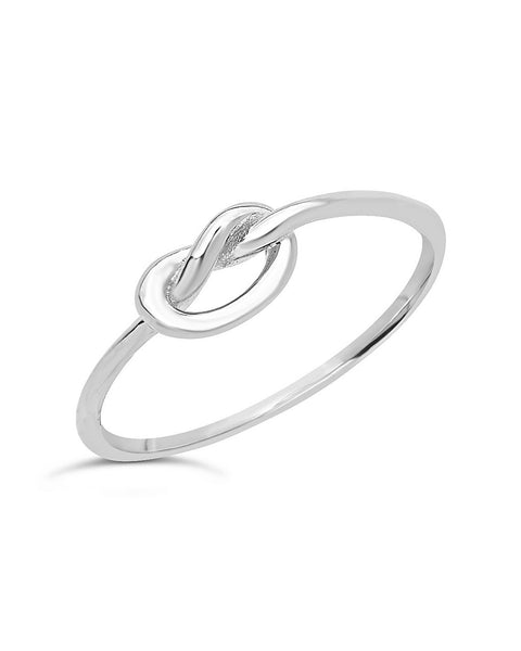 Sterling Silver Thin Love Knot Ring Ring Sterling Forever
