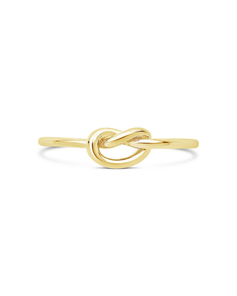 Sterling Silver Thin Love Knot Ring Ring Sterling Forever Gold 5