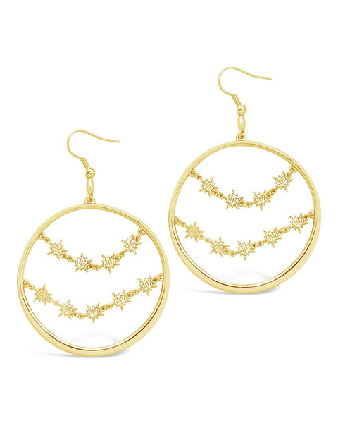 Multi Burst Dangle Hoops