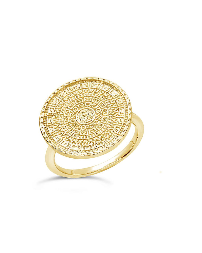 Medallion Statement Ring - Sterling Forever