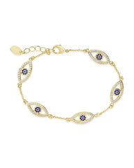 Evil Eye Bracelet with CZ