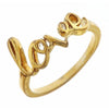 Gold tone Love Ring