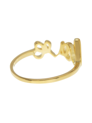 14K Gold Vermeil Love Ring