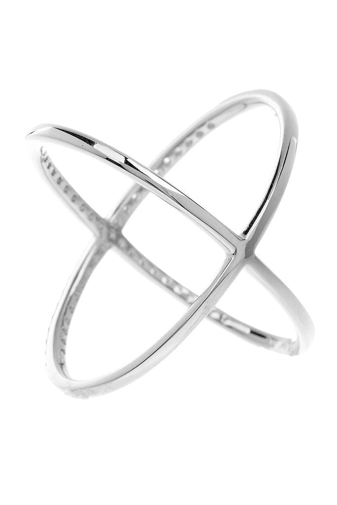 Criss Cross Ring - Sterling Forever