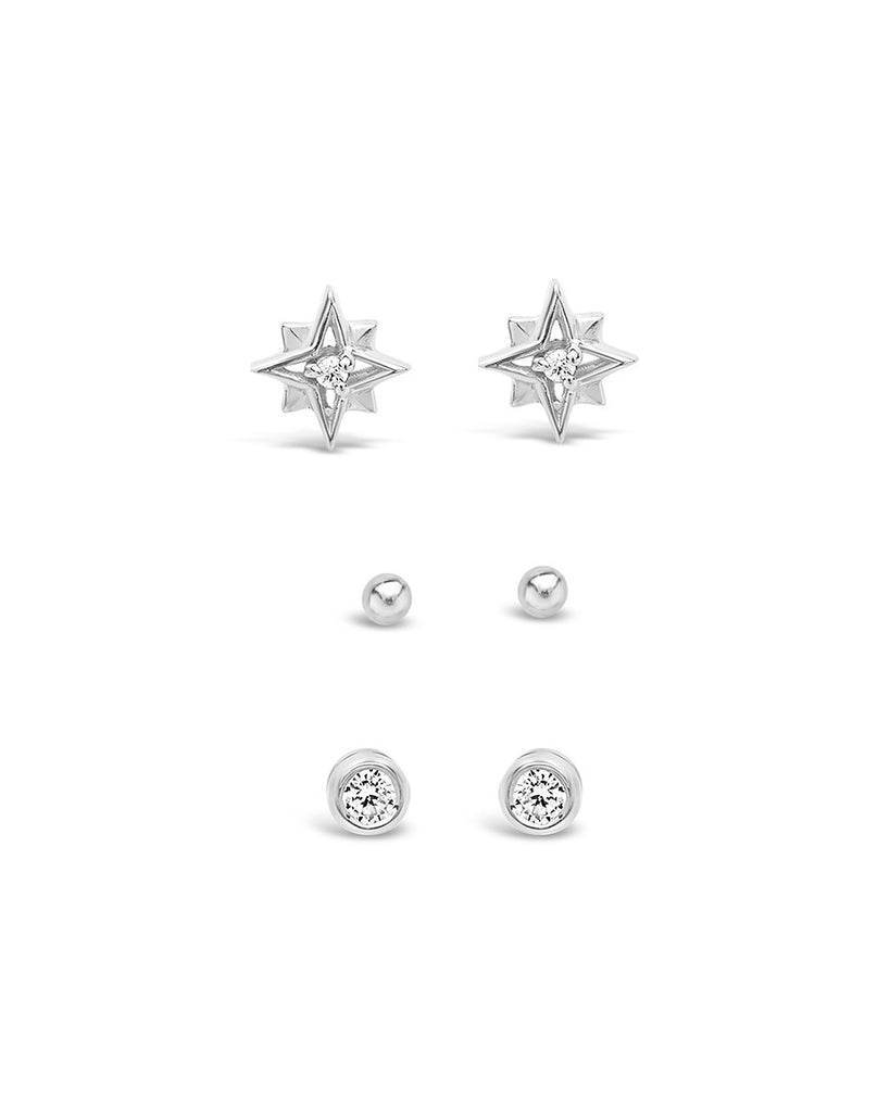 Sterling Silver Burst Earring Set - Sterling Forever