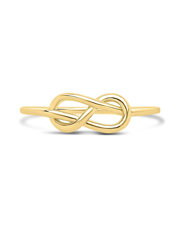 Sterling Silver Infinity Love Knot Ring - Sterling Forever