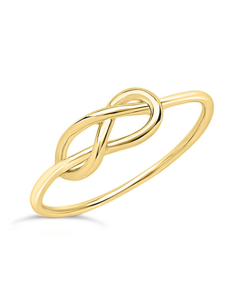 Sterling Silver Infinity Love Knot Ring