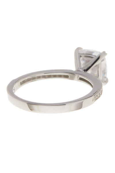 Sterling Silver Cushion CZ Solitaire Ring Ring Sterling Forever