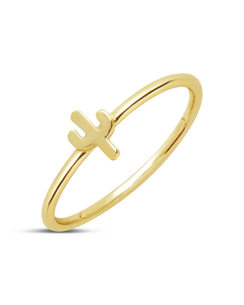 14K Gold Vermeil Mini Cactus Ring - Sterling Forever