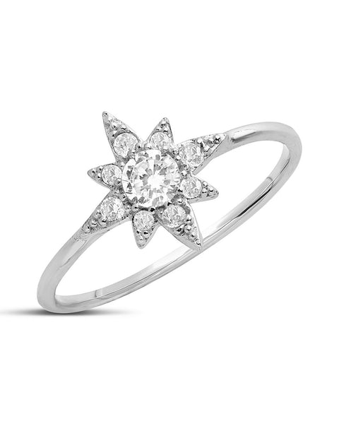 Sterling Silver CZ Polaris Ring
