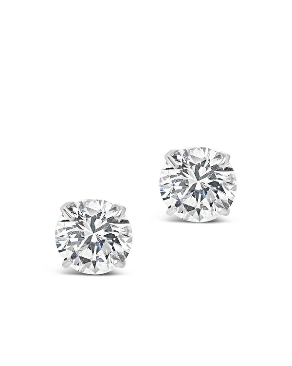 Sterling Silver 10mm CZ Stud Earrings - Sterling Forever