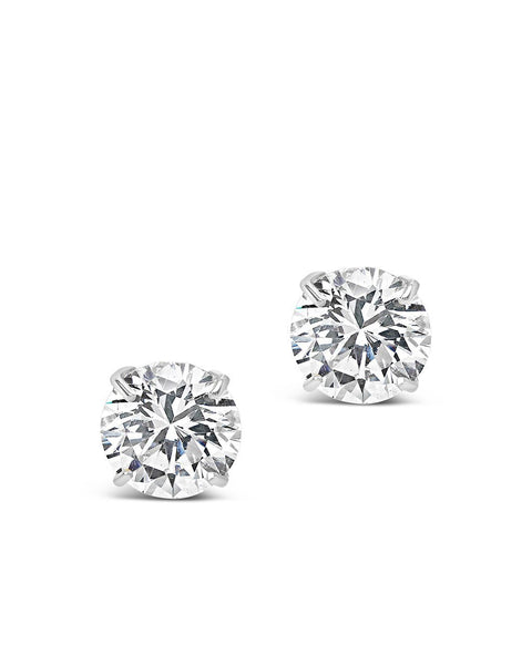 Sterling Silver 10mm CZ Stud Earrings