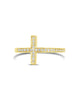 Sterling Silver Pave CZ Cross Ring - Sterling Forever