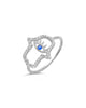 Sterling Silver CZ Hamsa Ring - Sterling Forever