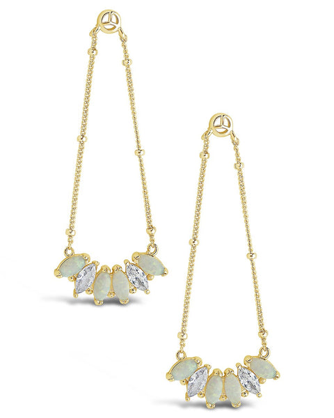 14K Gold Vermeil Opal Marquis Dangle Earrings - Sterling Forever