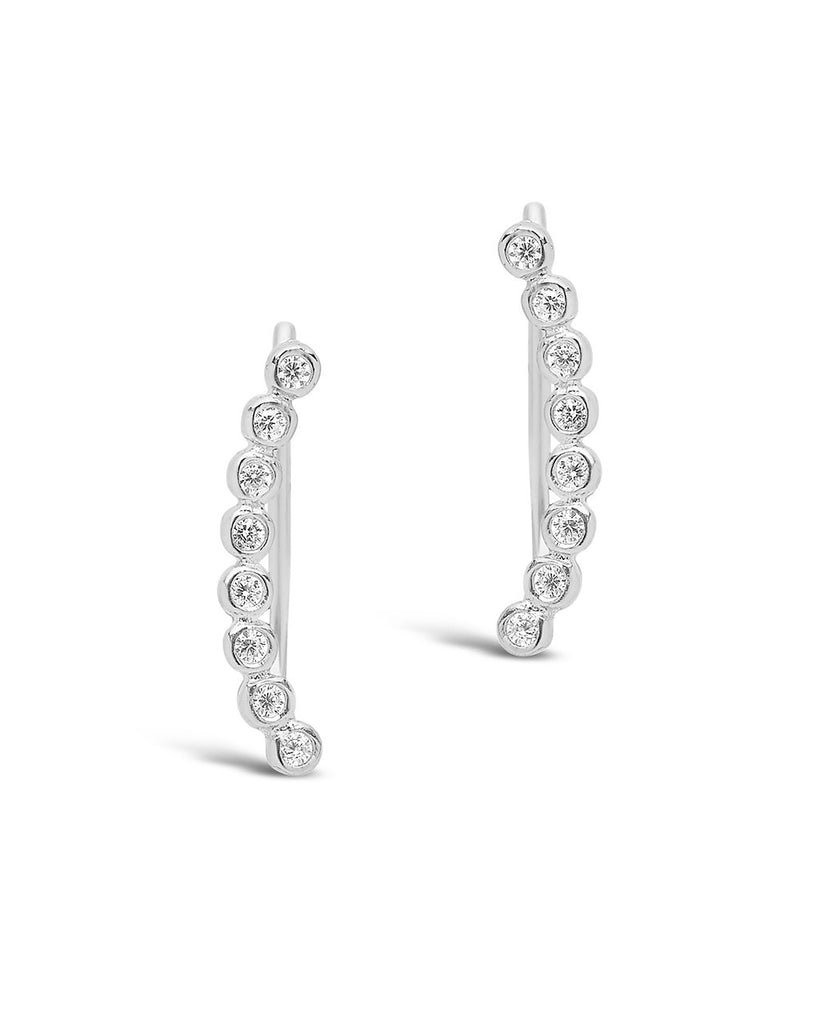 Sterling Silver Bezel Mini Ear Crawler - Sterling Forever