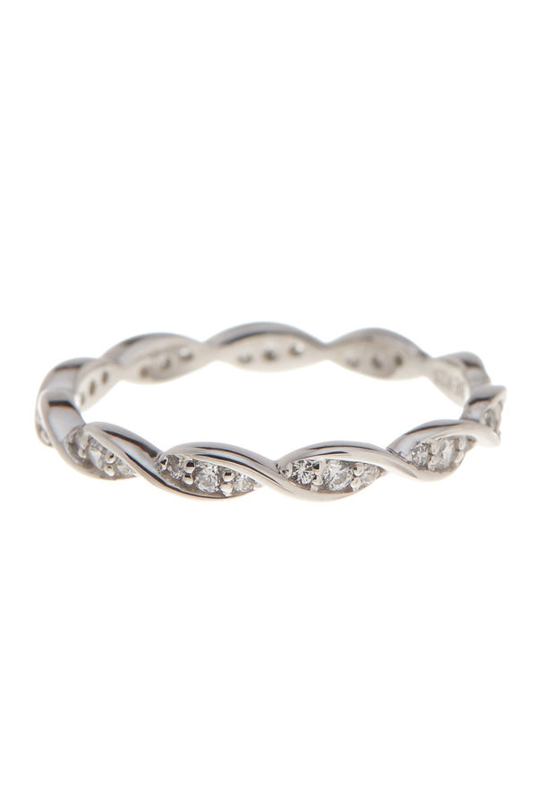 Sterling Silver CZ Eternity Ring - Sterling Forever