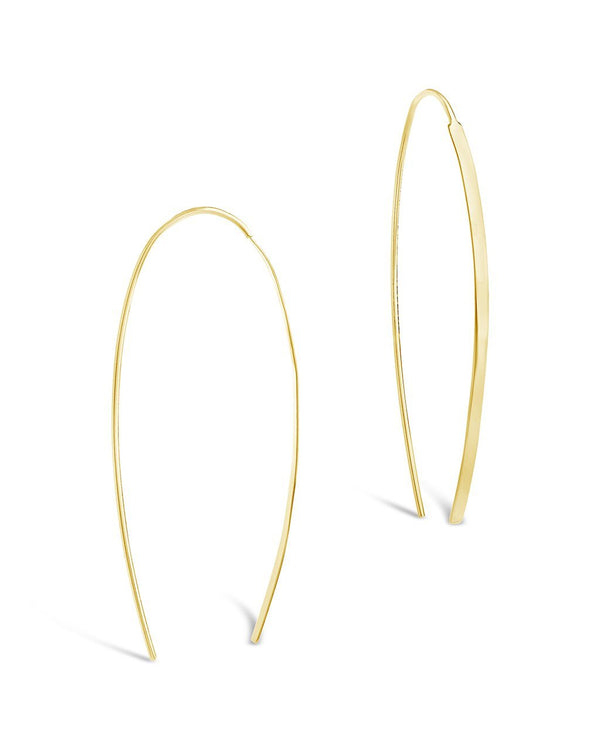 Sterling Silver Bar Threader Earrings - Sterling Forever