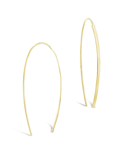 14K Gold Vermeil Bar Threader Earrings