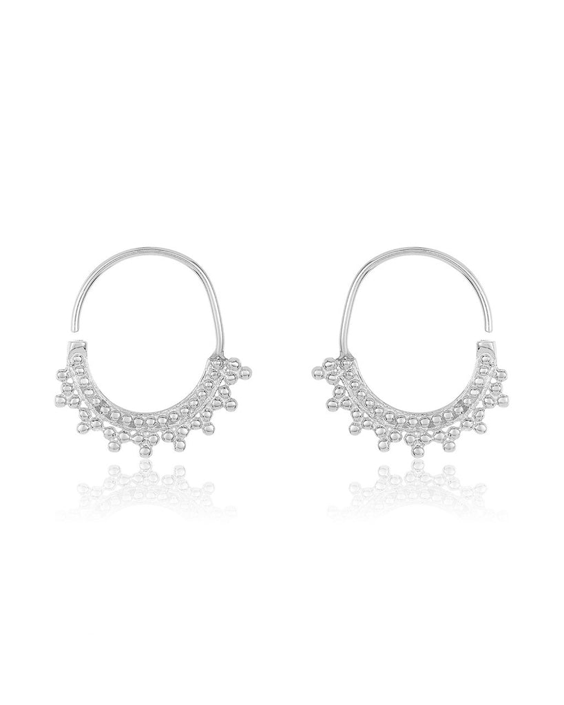 Beaded Stud & Infinity Hoop Earring Set - Sterling Forever