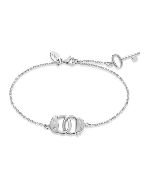 Sterling Silver Shades of Grey Handcuff Bracelet