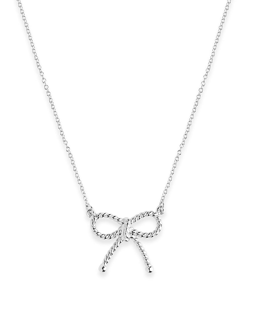Sterling Silver Twist Bow Pendant Necklace Sterling Forever Silver