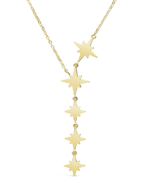 Polished Star Y Necklace Necklace Sterling Forever Gold