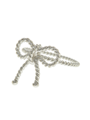 Sterling Silver Twist Bow Ring