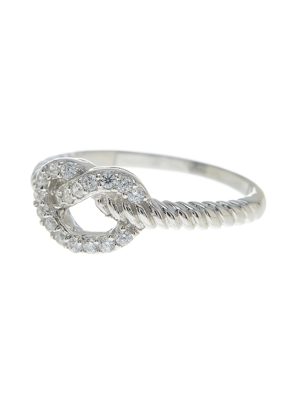 Sterling Silver Twist Love Knot Ring - Sterling Forever