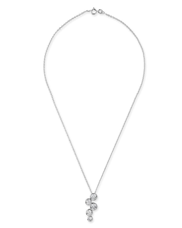 Sterling Silver CZ Bubbles Pendant - Sterling Forever