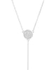 Sterling Silver Pave CZ Hamsa Y-Drop Necklace - Sterling Forever