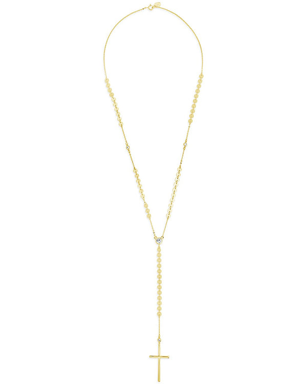 14K Gold Vermeil Cross & CZ Y Necklace - Sterling Forever