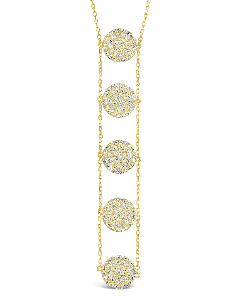 CZ Circle Drop Necklace - Sterling Forever
