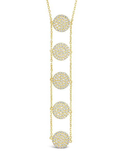 CZ Circle Drop Necklace Necklace Sterling Forever
