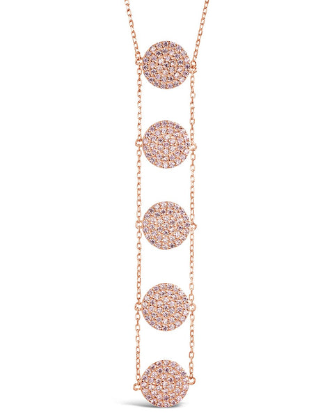 CZ Circle Drop Necklace