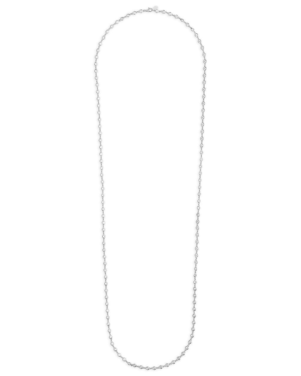 CZ by the Yard Long Wrap Necklace