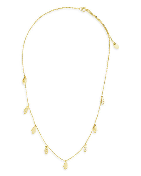 14K Gold Vermeil Evil Eye Hamsa Necklace Necklace Sterling Forever